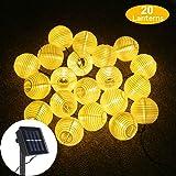 Solar LED Lanterns String Lights, ALED LIGHT 13.2Ft 4M 20 LED Waterproof Outdoor Decorative Stringed LED String Lights…