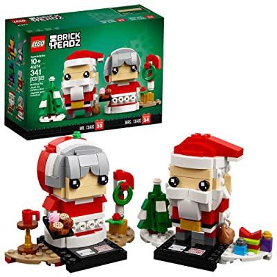 LEGO BrickHeadz Mr. & Mrs. Claus 40274 Building Kit (341 Pieces): Toys & Games