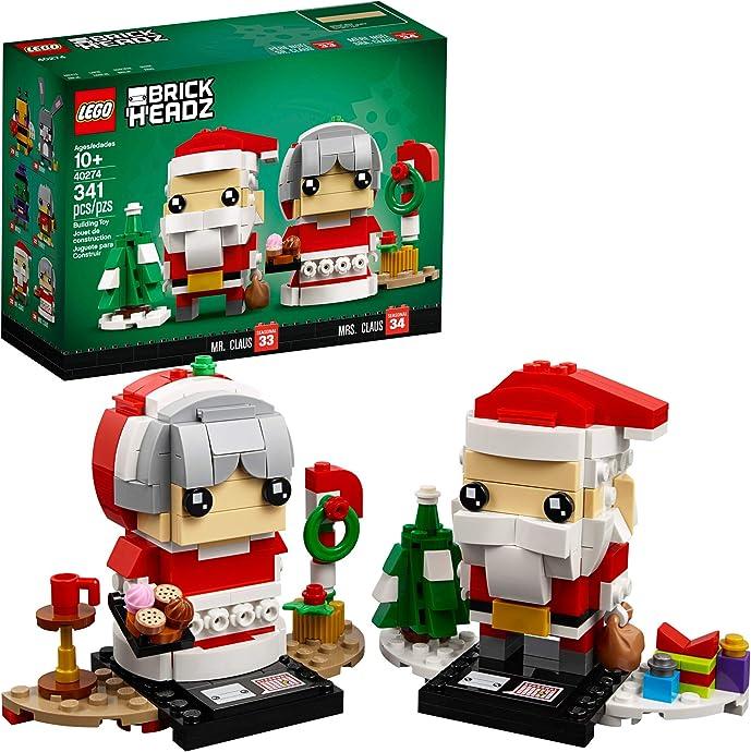 LEGO 乐高 圣诞老人和夫人40274 大头仔积木玩具 7折$13.99 海淘转运到手约¥118