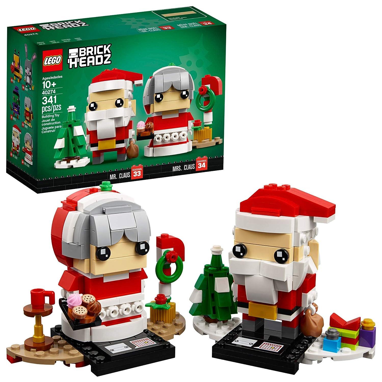Lego Halloween Sets 2019.Lego Brickheadz Mr Mrs Claus 40274 Building Kit 341 Pieces