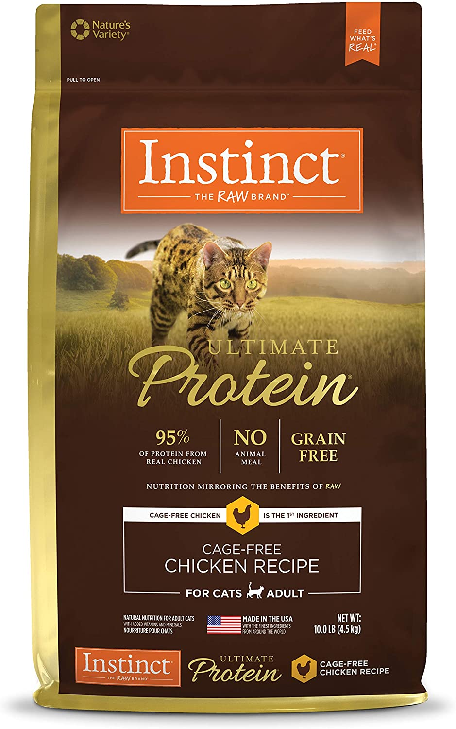 Instinct Ultimate Protein Grain Free Recipe Natural Cat Food & Toppers
