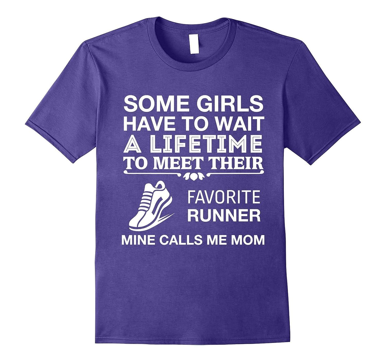 Favorite Runner Calls Me Mom Cute Track & Field T-Shirt-TH