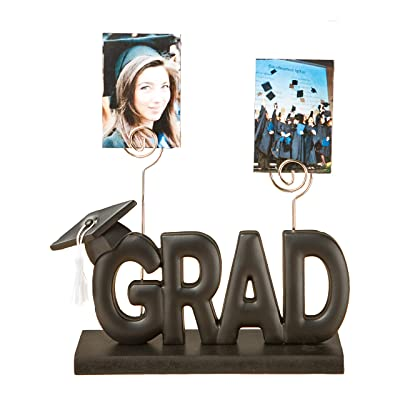 CoTa Global GRAD Picture Holder w/ 2 Metal Photo Clips Unique Display - Home Decor Accent: Kitchen & Dining