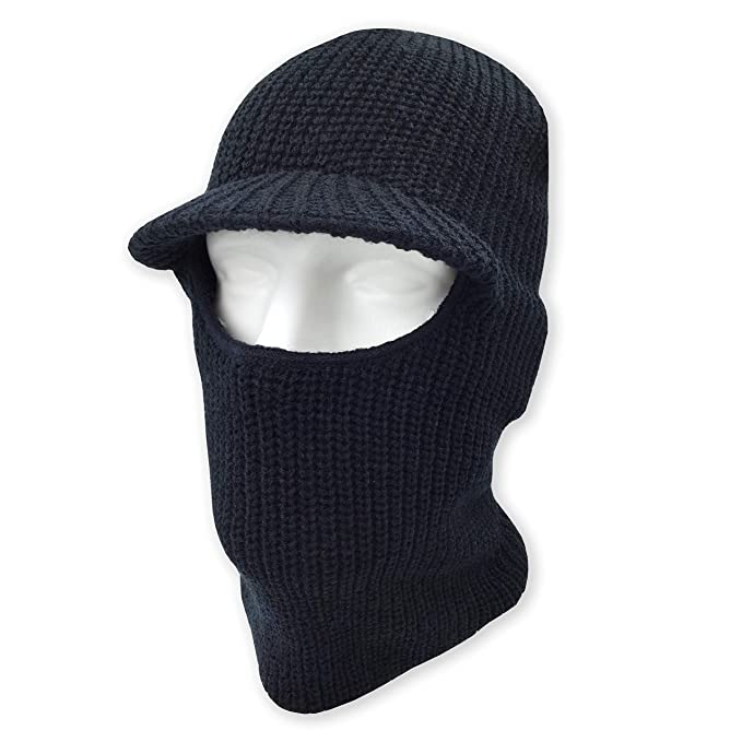575e5cf07b2 Image Unavailable. Image not available for. Color  Winter Warm Knitted  Beanie Face Mask with Visor - Snow Balaclava ...