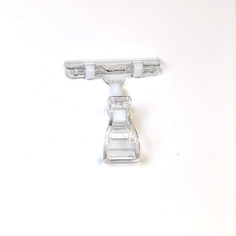 Abarnom 25 Pinzas Porta Precios giratorias Dobles Clip exhibici/ón de pl/ástico Soporte para Etiquetas.