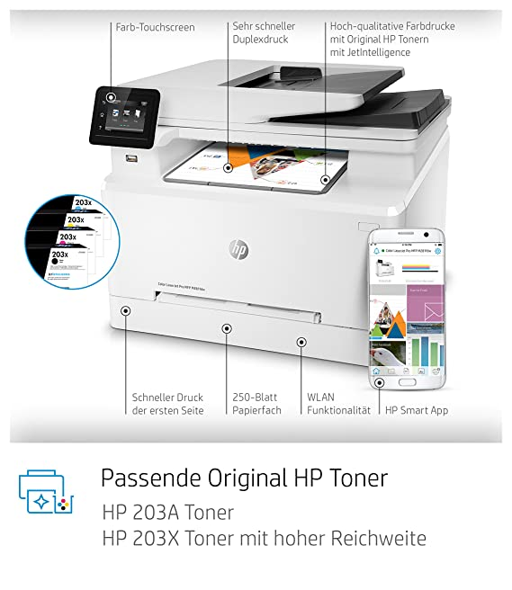 HP Color Laserjet Pro M281fdw Multifunktions-Farblaserdrucker ...
