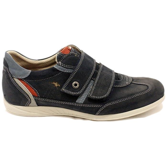 Fluchos 8645 - Zapatos Sport de Piel con Velcros - Azul, 41