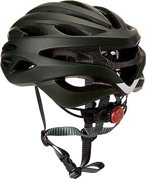 Casco de protecci/ón de Ciclismo Seguro Ajustable con luz de Fondo LED Dettelin Casco de Bicicleta Ventilaci/ón Motercycle Casco para Adultos