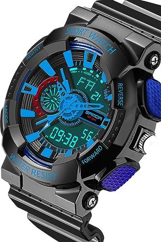 Reloj deportivo para niños, moderno, casual, resistente al agua, analógico, LED, digital, electrónico, relojes: Amazon.es: Relojes