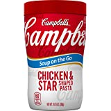 Campbell's Soup on the Go, Chicken & Star Shaped Pasta, 10.75 Ounce (Pack of 8)
