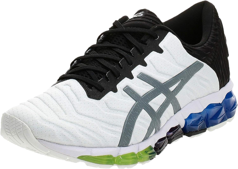 Asics Quantum 0 5 Zapatilla para Correr en Carretera o Camino de Tierra Ligero con Soporte Neutral para Hombre Blanco Negro Azul: Amazon.es: Zapatos y complementos