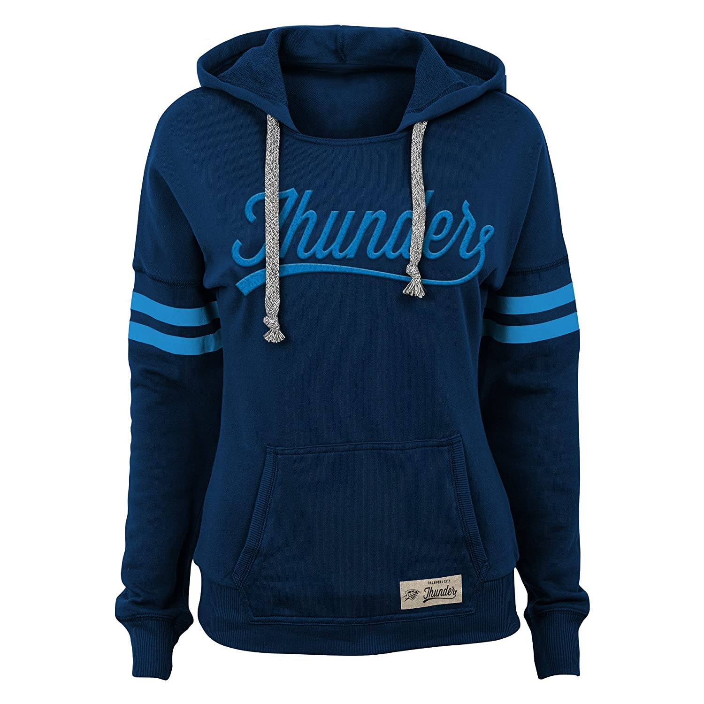 NBA Junior Girls Varsity Pullover Hoodie Oklahoma City Thunder-Dark Navy-L 11-13