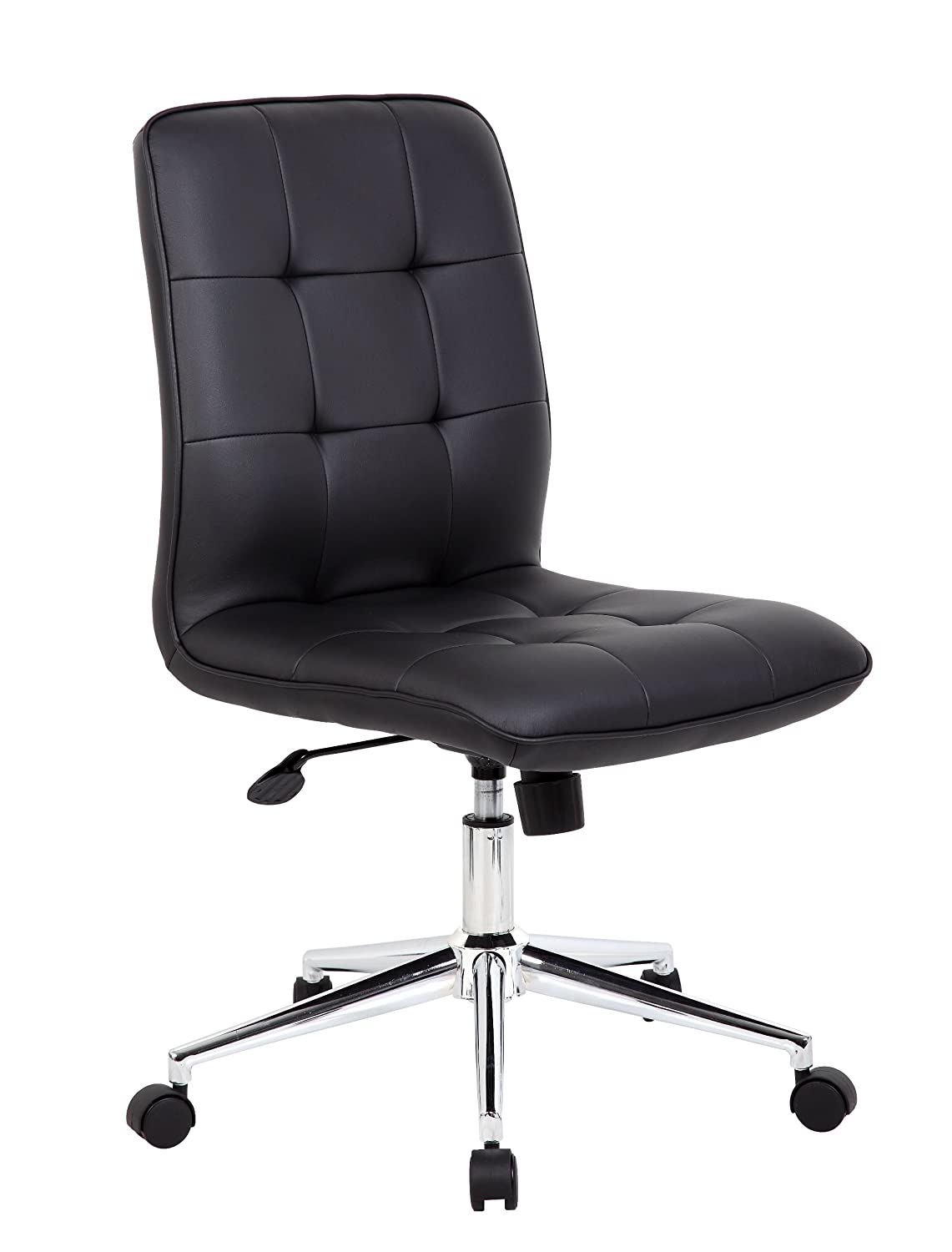 Black and white office chair - Amazon Com Boss Office Products B330 Rd Mellennial Modern Home Office Chair Without Arms In Red Kitchen Dining