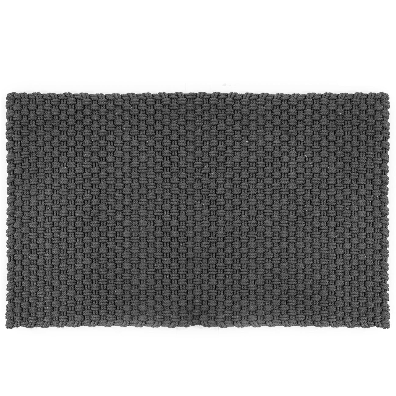 Uni In- und Outdoor Fußmatte grau 172 x 92 cm Outdoor Teppich stone dunkelgrau