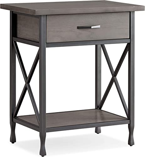 Best modern nightstand: Leick Chisel Forge Nightstand