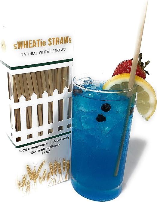 Paquete de 100 pajitas de trigo sWHEATie Straws, de 19 cm ...