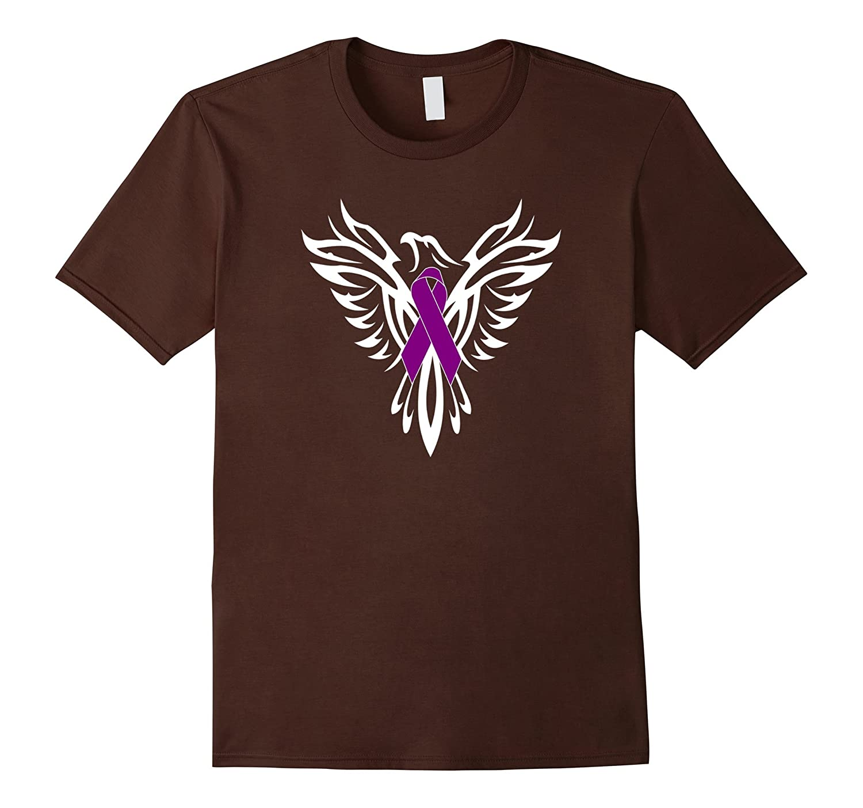 Fibromyalgia Syndrome Awareness T Shirt Purple Ribbon-CD