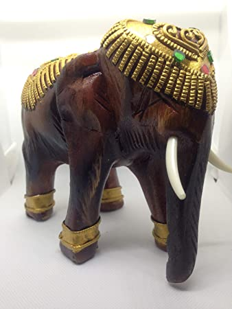 Amazoncom Elephant Statuesolid Wood Elephant Figurine Home