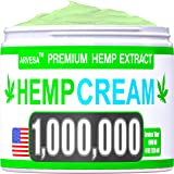 Instant Hemp Cream - 1,000,000 - Made in USA - Relieves Muscle, Foot, Shoulder, Joints and Back - Natural Hemp Oil…