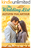 The Wedding List: A sweet and clean Christian romance set in London (Love In Store Book 1)