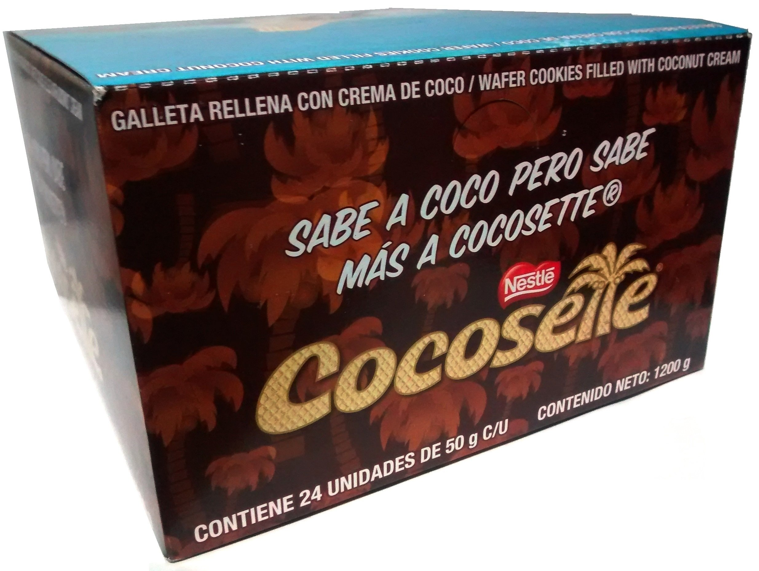 Cocosette - Pack of 24 - Wafer Cookie Filled with Coconut Cream (50 g. each) - 42.3 oz by Cocosette