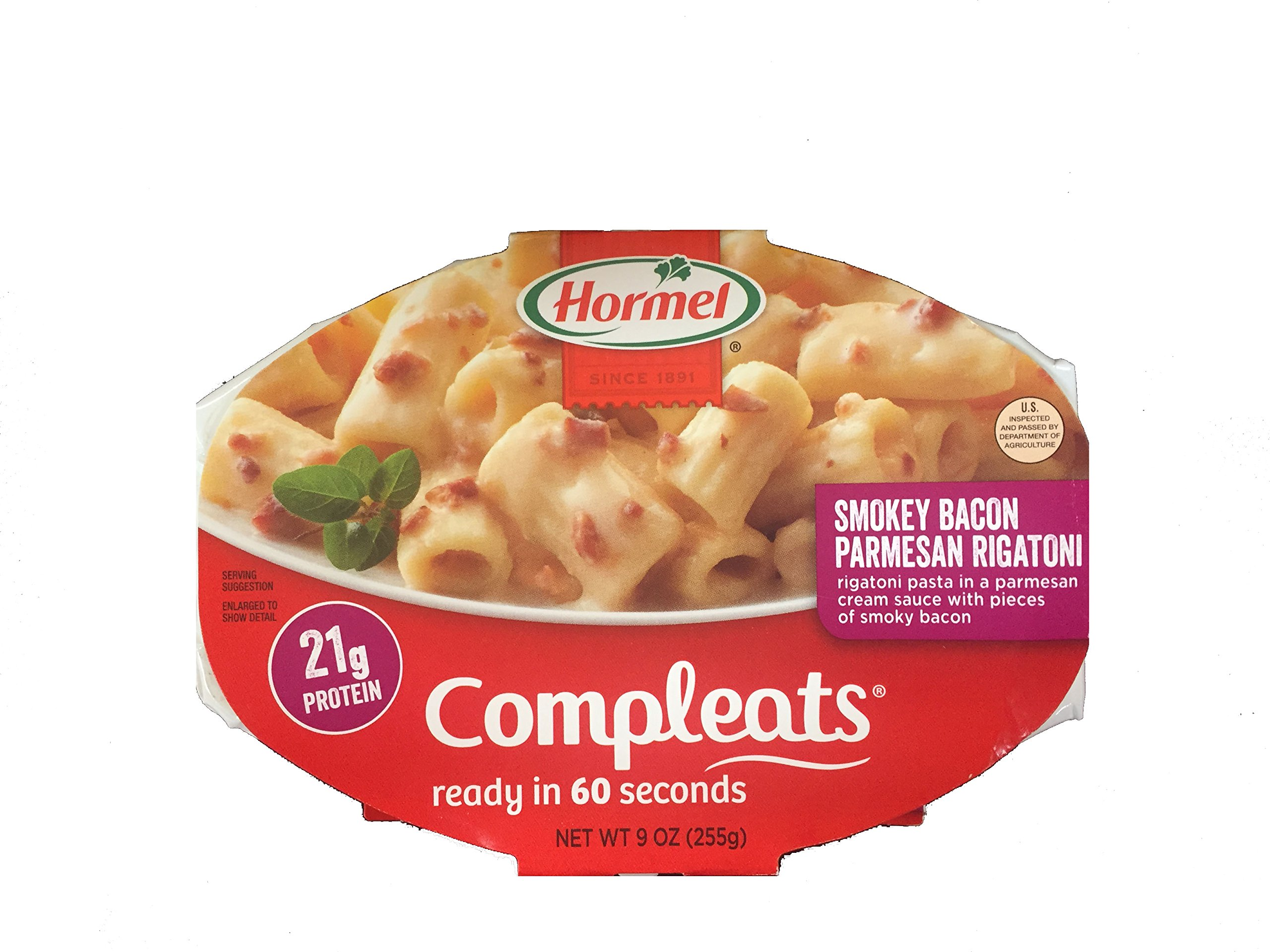 Hormel Compleats Cafe Creations Smoky Bacon Parmesan Rigatoni 9 oz (Pack of 6)