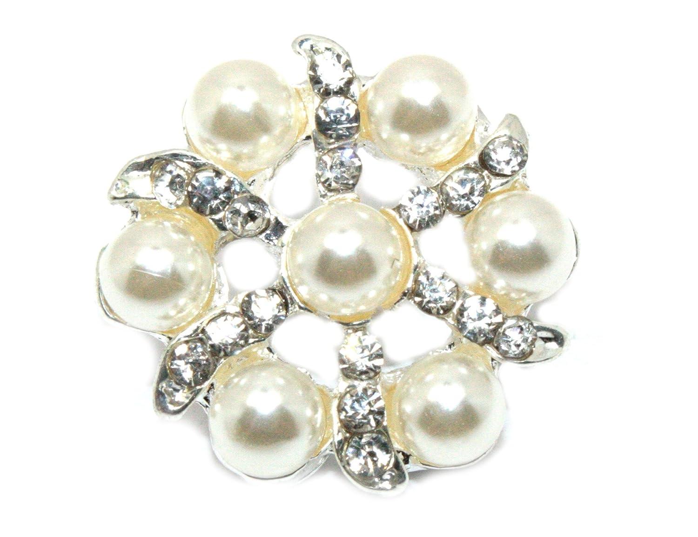 JLIKAラインストーンボタン装飾の結婚式やHair Bows ( 10ピース)   B00TKJ6MIG