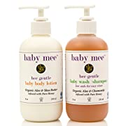 Baby Shampoo and Baby Lotion Set - Gently Cleanse and Moisturize Your Baby With Organic Aloe, Chamomile, Shea Butter, Honey. - No Tear Formula Body Wash and Lotion for Dry Skin - Gift Set