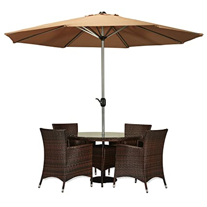 Peachy Amazon Com Carabelle Amz3328Dbbg Outdoor Wicker Patio 6 Beutiful Home Inspiration Truamahrainfo