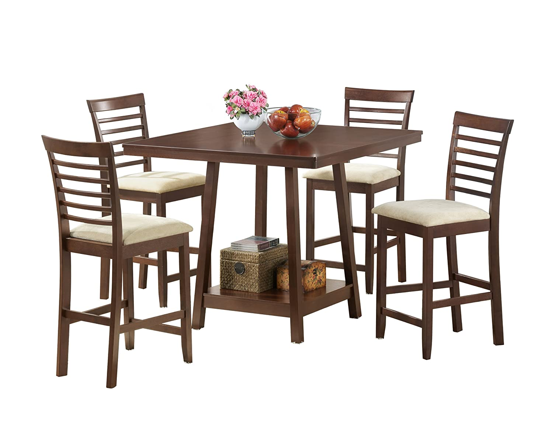 Amazon.com   Baxton Studio Kelsey 5 Piece Modern Dining Set/Pub Set   Table  U0026 Chair Sets