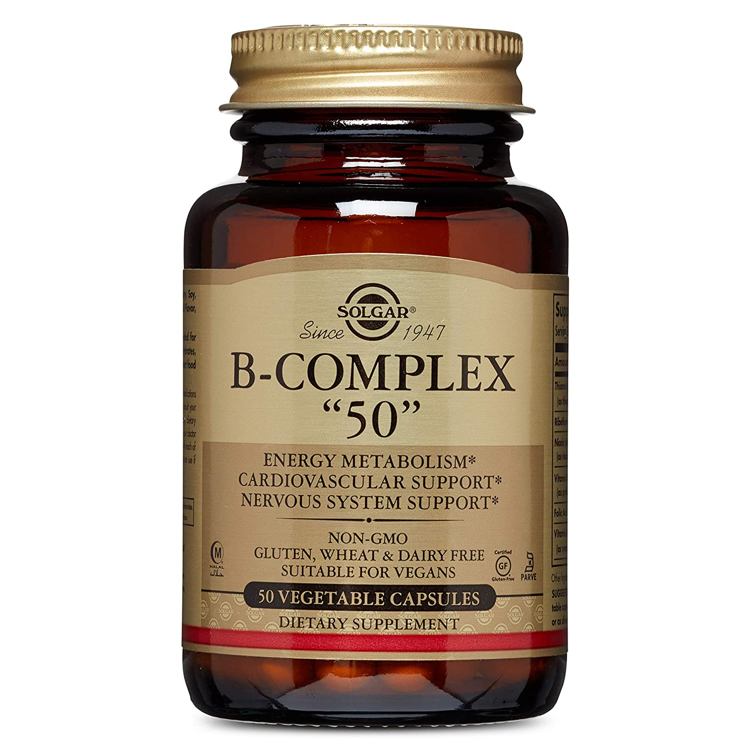 Solgar B-Complex Vegetable Capsules, 50 Count