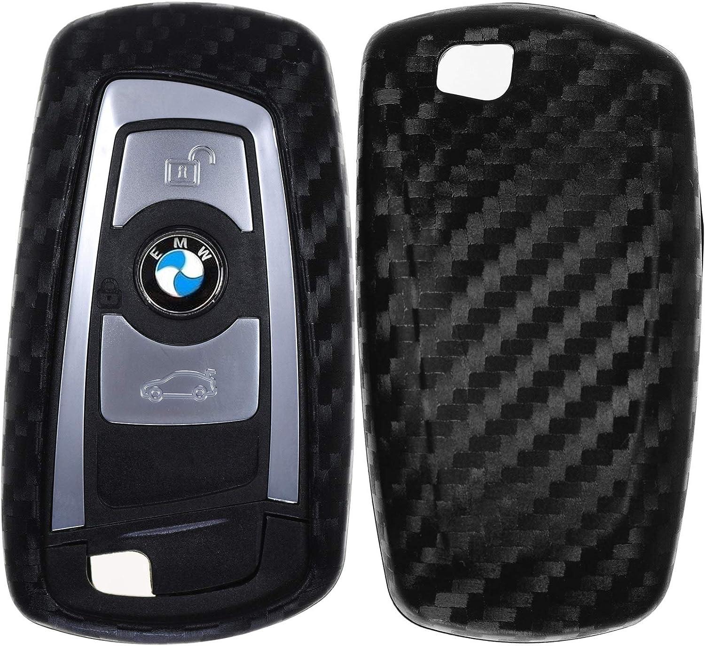 KEYLESS Carbon Soft Case Etui de Protection Cl/é Voiture sans cl/é Compatible avec BMW F30 F32 F26 F01 F07 F12 F10 F06 F03 F25 F13 F11