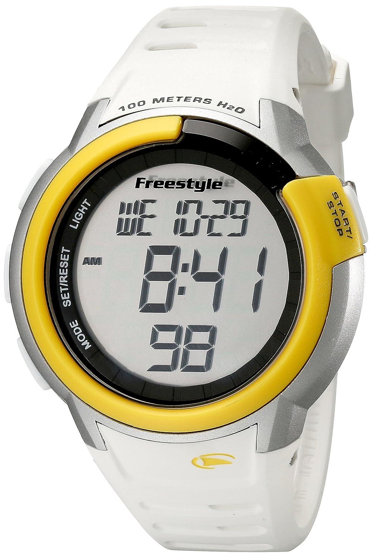 Freestyle Mariner Sailing FS84897 - Reloj digital de cuarzo para hombre, correa de goma color blanco (alarma, registro de vueltas, luz, ...