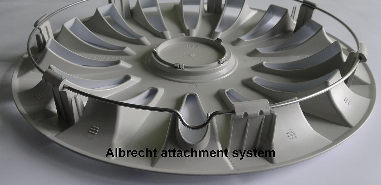 ALBRECHT automotive 39446 Car Wheel Trims Arrow Nylon Lux 16  inches 1 Set of 4 Units