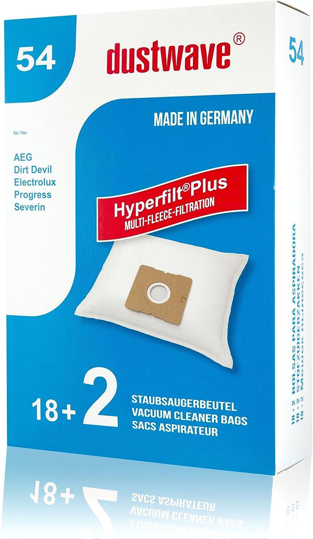 20 Bolsas de aspiradora Adecuado para Severin – BC 7055 S power Snow White XL aspirador/dustwave® Marca Bolsa para el polvo/Fabricado en Alemania + Incluye Micro filtro: Amazon.es: Hogar