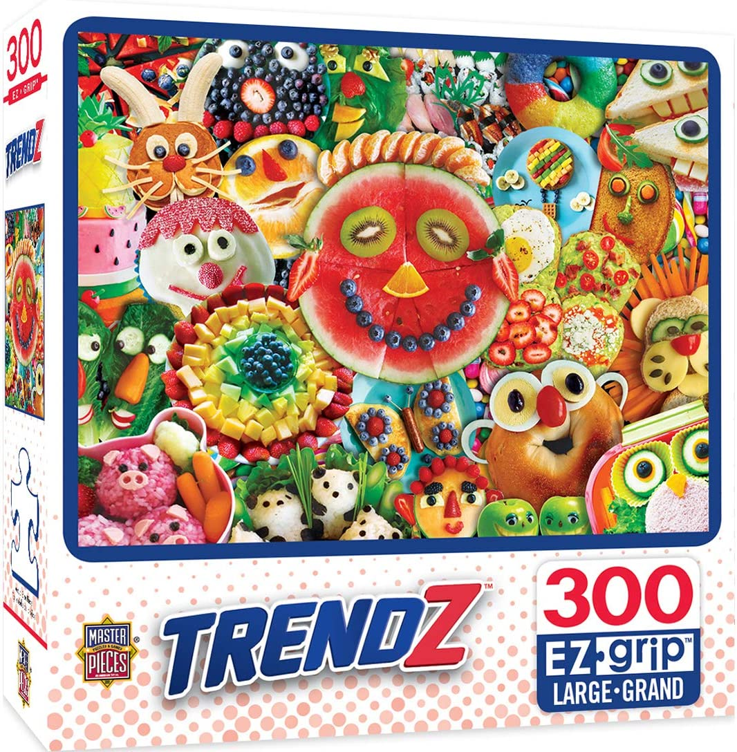 MasterPieces Trendz 300 Puzzles Collection - Funny Face Food 300 Piece Jigsaw Puzzle