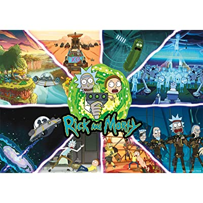 Buffalo Games - Rick and Morty - Get Schwifty - 500 Piece Jigsaw Puzzle: Toys & Games