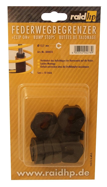 Raid HP 300023 Federwegbegrenzer Clip-On 12 mm Durchmesser (Verhindern das Aufschlagen der Karrosserie auf die Rä der)