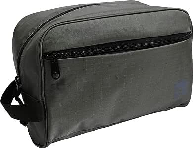 Slate Travel Waterproof Nylon Dopp Kit - Shaving Toiletry Bag Organizer (Grey)