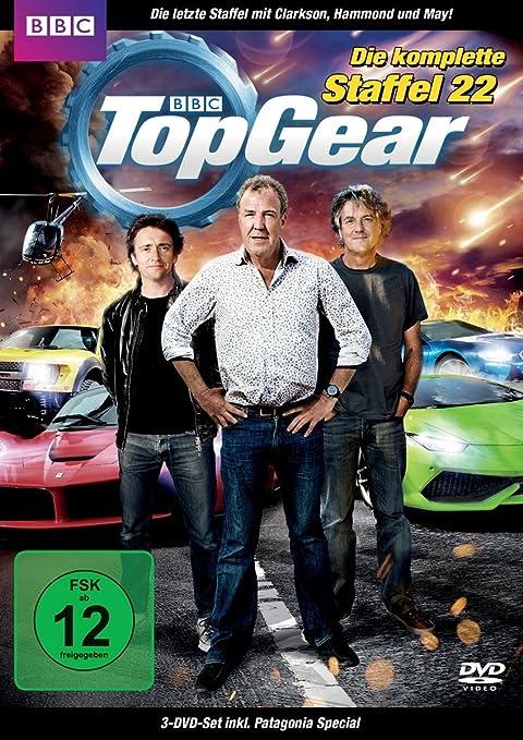 Top Gear: Die komplette Staffel 22 inkl. Patagonien-Special 3 DVDs Alemania: Amazon.es: Jeremy Clarkson, Richard Hammond, James May, diverse, Jeremy Clarkson, Richard Hammond: Cine y Series TV