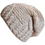 Frost Hats M-80 Winter Hat for Women Slouchy Beanie Hat Knitted Crystal Winter Hat Frost Hats