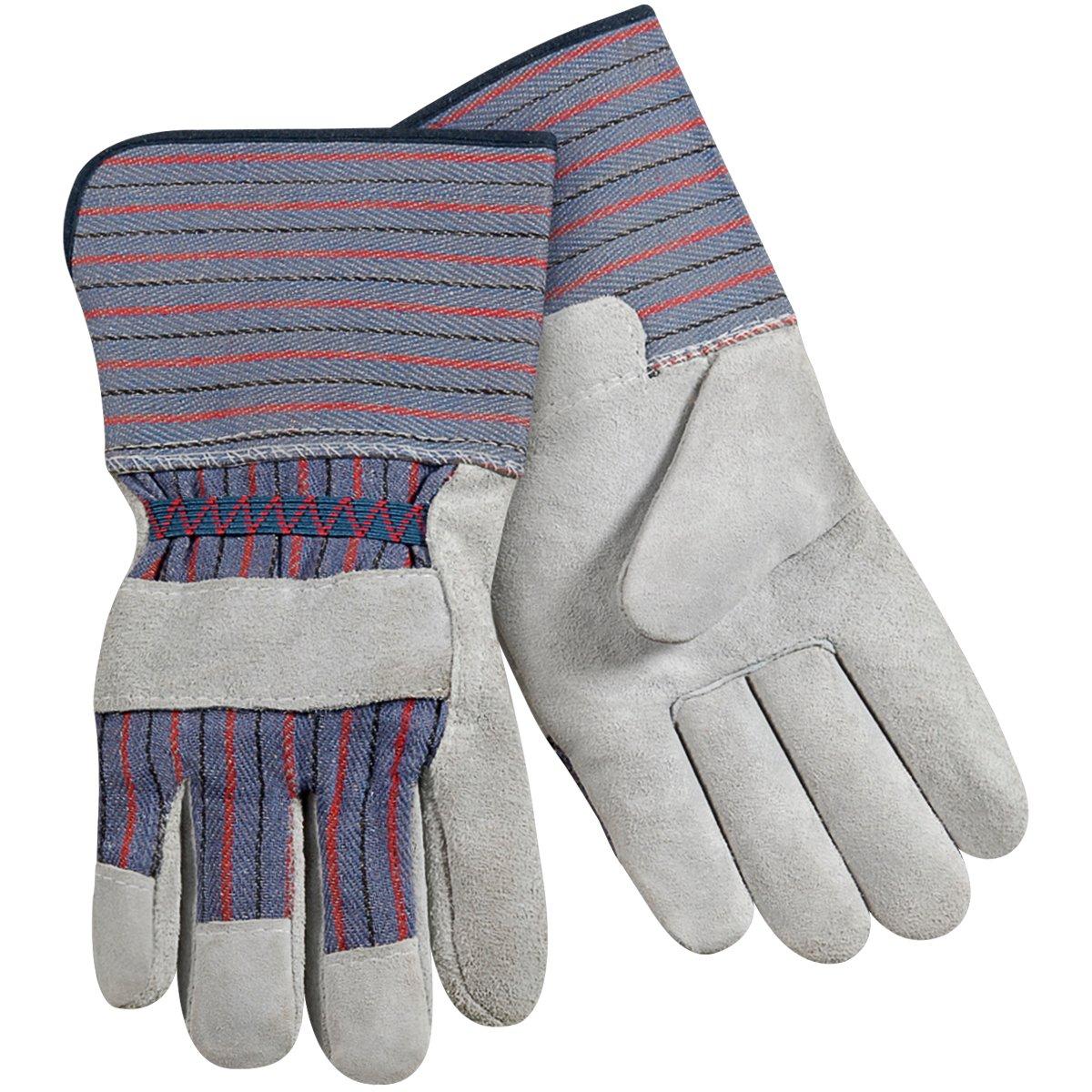 Steiner SPC03-L Leather Palm Work Gloves, Standard Shoulder Split Cowhide, 4-Inch Gauntlet Cuff, Large (12-Pack)