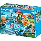Playmobil 5129 jeu de construction caf du port for Playmobil 4858 piscine avec toboggan