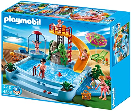 Delightful Playmobil 4858 Open Air Pool With Slide