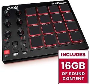 AKAI Professional MPD218 | Ultra Portable USB Bus Powered 16 Pad USB/MIDI Pad Controller