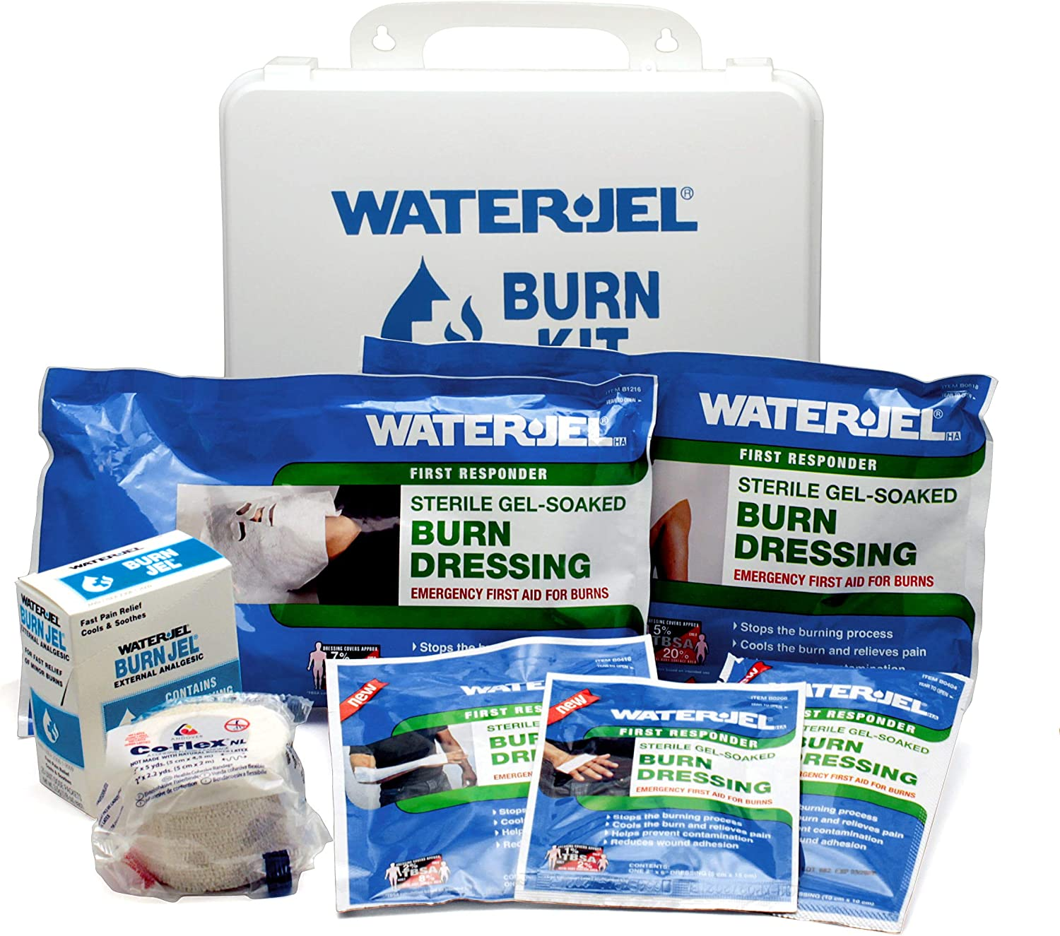 Medique Products 86301 Water Jel Industrial/Welding First Aid Kit, Filled - Workplace First Aid Kits -