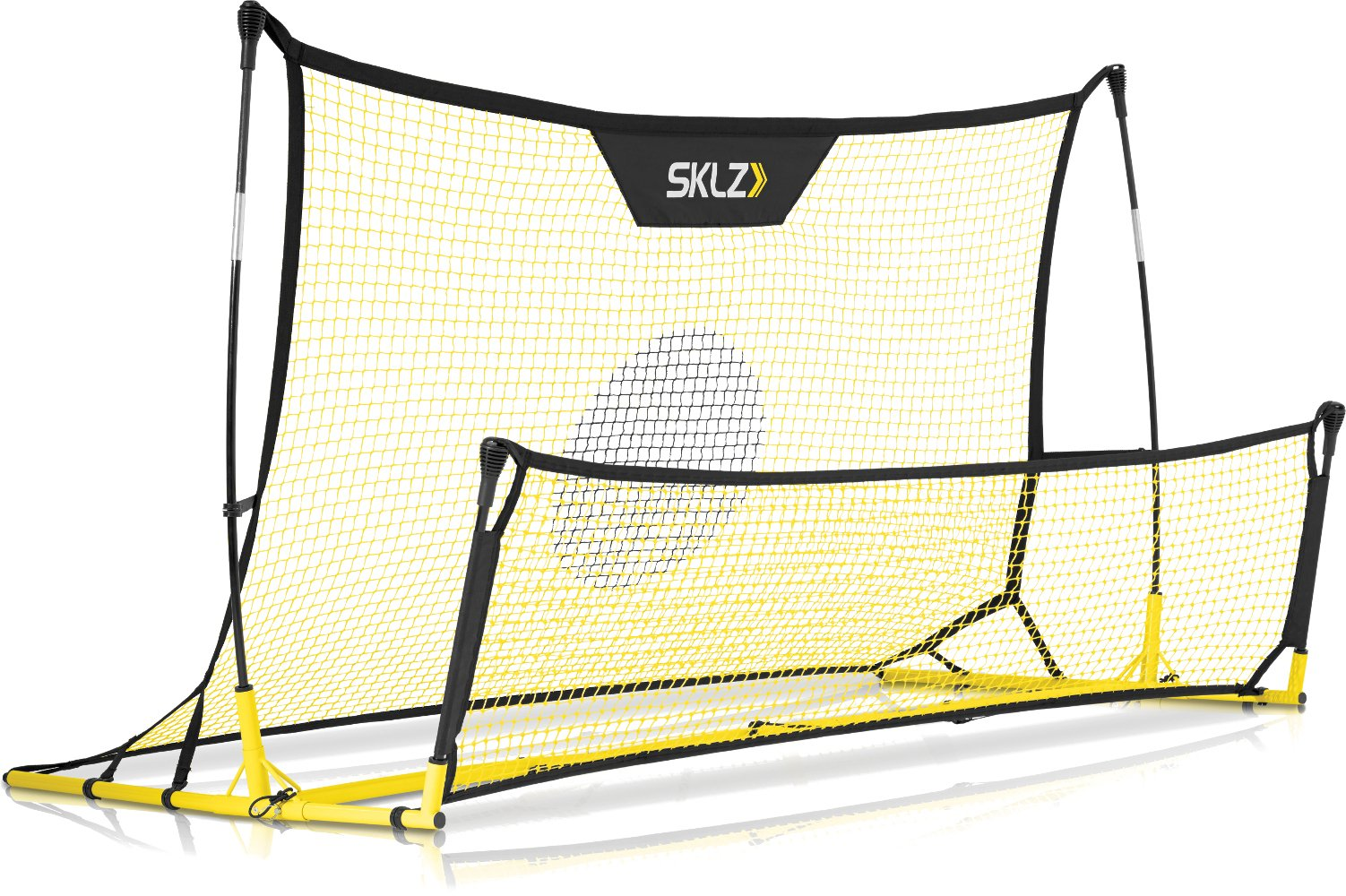 SKLZ Quickster Soccer Trainer - Portable Soccer Rebounder Net Works as a Soccer Volley Trainer, Soccer Passing Trainer and Solo Soccer Trainer. 6-Feet by 4-Feet