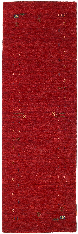 CarpetVista Gabbeh Loom - Rot Teppich 80x250 Orientalischer, Läufer Teppich