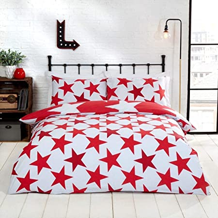 Px S All Stars Bright Bold Printed Reversible Duvet Cover Quilt