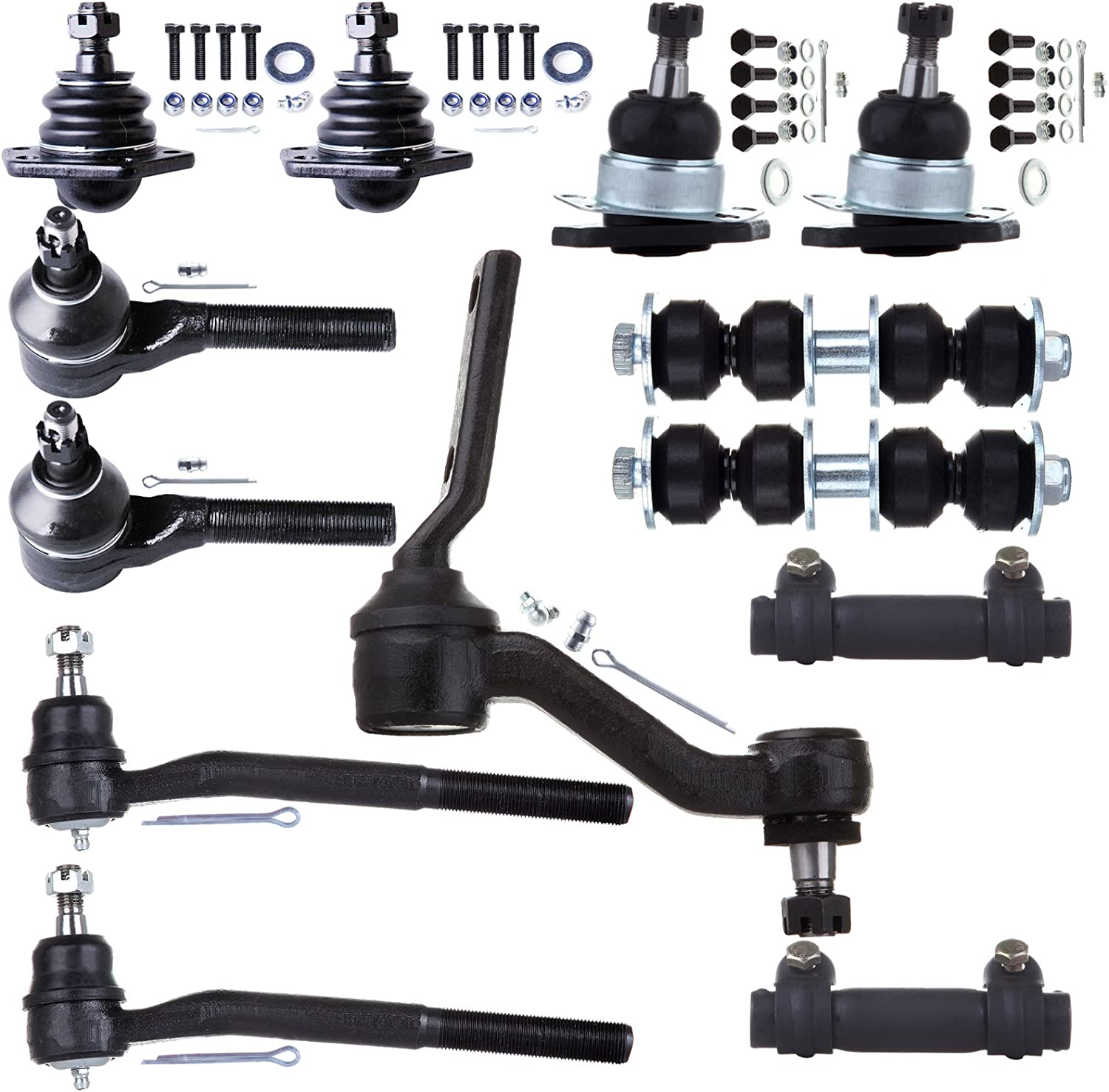 ECCPP Front Ball Joint Tie Rods Sway Bar Link Idler Arm Complete Kit for 1998-2005 Chevrolet Blazer 4WD 13Pcs